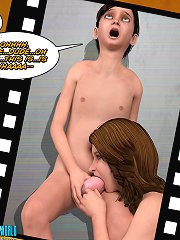 Kinky slut is deepthroating her partner's cock in the 3D porn cartoon